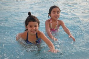 Serene (L) & Janah (R) during our earlier years in the UAE