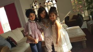 My little beauties getting ready for their first magazine photo shoot.
