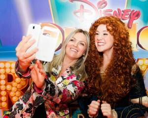 A selfie with Merida from Brave