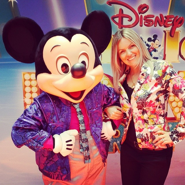 With Mickey Mouse at the launch of Disney On Ice in Dubai.