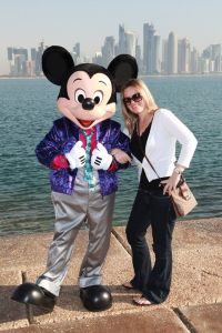 As you can see, Mickey Mouse and I are quite the pals. Here we are in Doha.