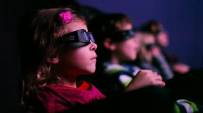 It's not uncommon to see children in movie theaters without adult supervision