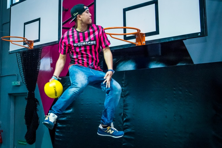 Can you slam dunk while you're bouncing?